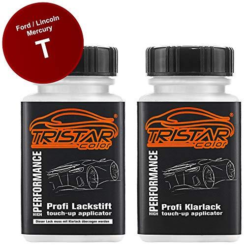 TRISTARcolor Autolack Lackstift Set für Ford/Lincoln/Mercury T Candy Apple Red Basislack Klarlack je 50ml