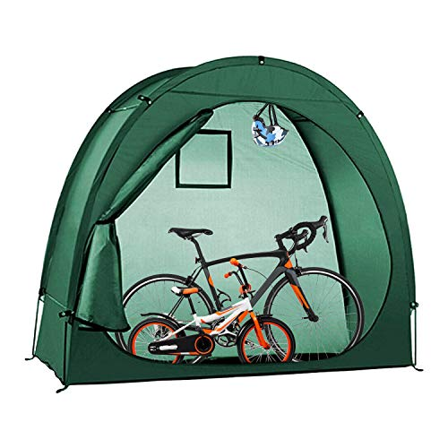 Bicycle Cover Bike Tent Storage Shed with Window Design for Space Saving Outdoor Cycle Camping Domb Shelter
