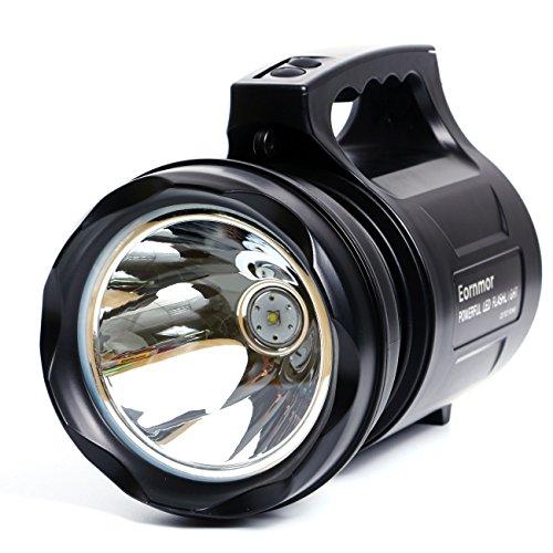 Eornmor High Power Handheld LED Spotlight Rechargeable Waterproof Portable Large Flashlight Heavy Duty Outdoor Searchlight Hand Held,15000mAH