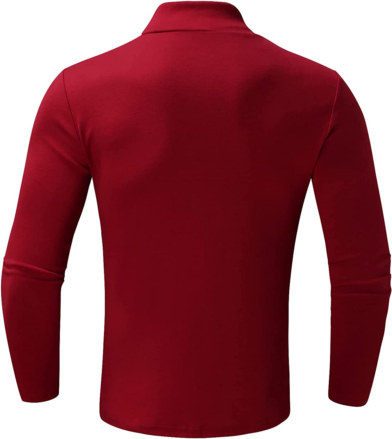 Long Sleeve Tee Shirts for Men Casual Working Solid Color Pullover Thin Tops Lightweight T-Shirt for Fall Winter