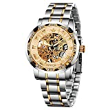 Watches, Men's Watches Mechanical Hand-Winding Skeleton Classic Fashion Stainless Steel Steampunk Dress Watch