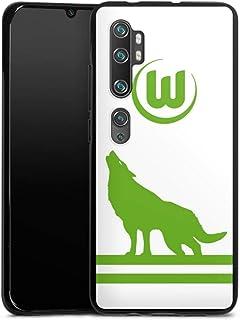 DeinDesign Silikon Hülle kompatibel mit Xiaomi Mi Note 10 Pro Case schwarz Handyhülle VFL Wolfsburg Fußball Offizielles Lizenzprodukt