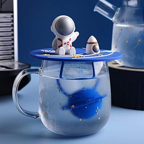 BBTY Tetera de té de té de Espacio de Dibujos Animados con Filtro Taza de Agua Resistente al Calor de Agua fría Taza Taza de Bebidas Drinkware Regalo de cumpleaños (Color : Mug1)