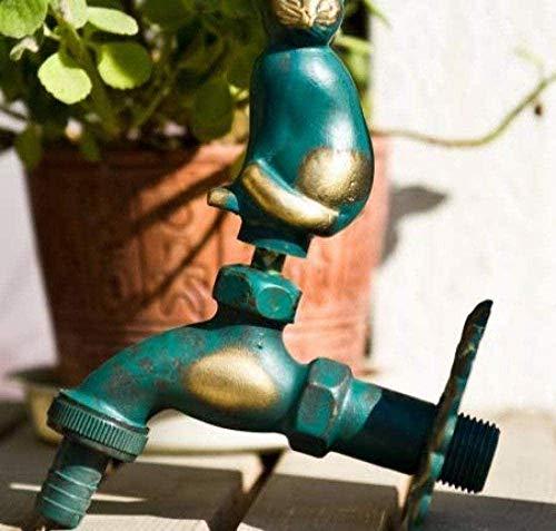 Robinet de jardin robinet de jardin extérieur forme animale Bibcock vert/robinet en laiton Antique pour laver la vadrouille/robinet Animal d'arrosage de jardin