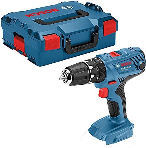 Bosch Professional 06019H1108 Bosch GSB 18V-21-Taladro Atornillador de Impacto (batería no incluida, par de apriete Duro y Blando: 55/21 NM, en L-BOXX), 18 V, Solo