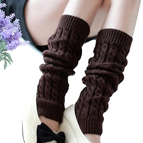 Butterme Frauen Damen Winter Mode Beinlinge Strumpf stricken starke lange Socken Lady Häkelarbeit Legging Bestes Weihnachtsgeschenk (Marine)