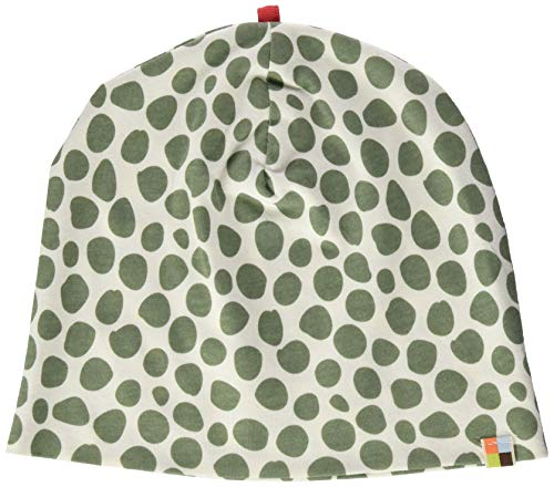 loud + proud Unisex Baby Mütze mit Druck, aus Bio Baumwolle, GOTS zertiziziert, Grün (Olive Oli), 37/39 (Herstellergröße: 62/68)