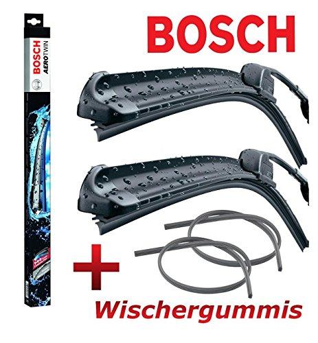 BOSCH Aerotwin A933S 3397118933 Scheibenwischer Wischerblatt Wischblatt Flachbalkenwischer Scheibenwischerblatt 550 / 550 Set + 2 x Ersatz Wischergummis für die BOSCH Aero Serie 2mmService