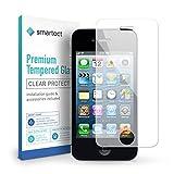 smartect Panzerglas kompatibel mit iPhone 4 / 4s - Bildschirmschutz mit 9H Festigkeit - Blasenfreie Schutzfolie - Anti Fingerprint Panzerglasfolie