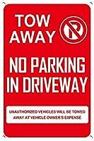 警告標識金属標識が車線を引きずっている駐車禁止標識面白い屋外標識道路標識7.9×11.8インチ