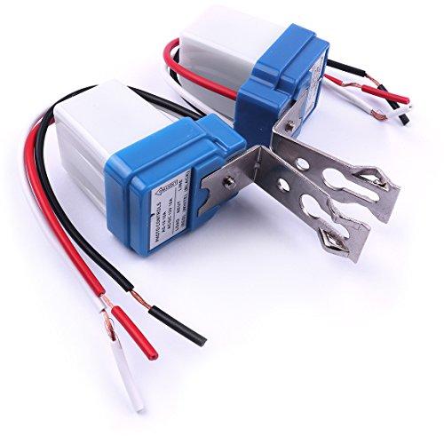 Atoplee 5 unids AC DC 12 V 10 A control de foto auto encendido apagado fotocélula interruptor sensor de luz
