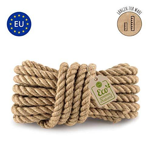Juteseil//Seil aus Jute//Jutetau geflochten Natur Durchmesser ca.4mm biologisch abbaubar und umweltfreundlich L/änge: 100 Meter hergestellt aus naturbelassenem Jutegarn