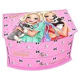 Depesche 10581 Cofanetto portagioie con specchio, TopModel Friends con cani, rosa, multicolore