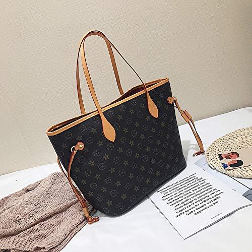 LFGCL Borse Donna Borsa a Mano a Due Pezzi Temperamento Shopping Bag di Moda Monospalla Grande capacità, Beige