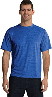 Charles River Apparel mens Space Dye Moisture Wicking Performance Tee