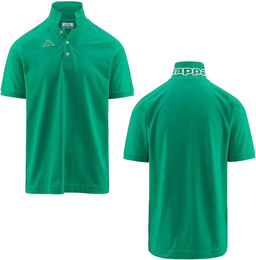 Kappa man logo life polo maglietta a maniche corte da uomo 100% cotone GS_302S1U0_005_GREEN_XS