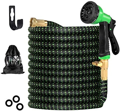 Garden Hose Flexible Water Hose with 8 Function High Pressure Spray Nozzle Leakproof Garden product image