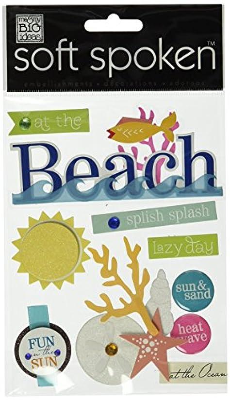 me & my BIG ideas Soft Spoken Themed Embellishments, Beach