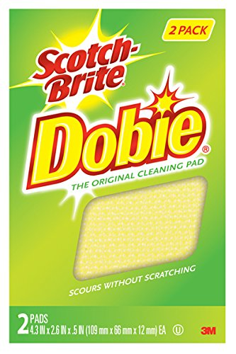 Scotch-Brite Dobie All Purpose Pads, 2-Count (Pack of 5) (packaging may vary)