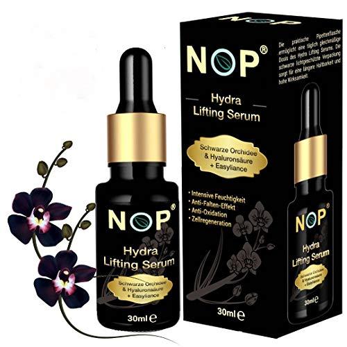 NOP Hydra Lifting Serum | Hyaluron Serum | Gesichtspflege Damen | Serum mit schwarzer Orchidee & Easyliance | Feuchtigkeitsserum | Anti-Falten Serum 30 ml