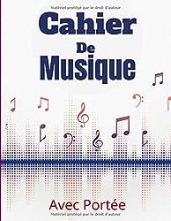 Cahier De Musique: Papier Musique Avec 8 Grosses Portées - Grand Format - 24x32 - 100 pages