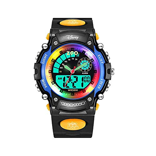 BCGTIK Kinderen Jongen Cartoon Trend Lichtgevende Waterdichte Horloge Anti-val Jongen Cool Elektronisch Horloge Multi-Functie Kinderen Sport Elektronische Horloge Outdoor Klimmen Mannelijke Vrouwelijke Studenten Horloge Blauw