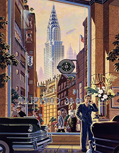 CICIDI Wooden Puzzles For Adults - The Chryslers, New York City ( 1000 Piece Wooden Jigsaw Puzzle) - Entertainment DIY Toys for Creative Gift Home Decor