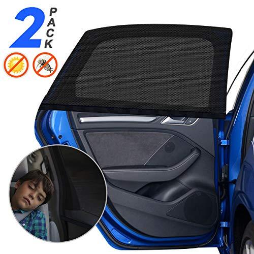 """Sonnenschutz Auto Baby mit UV Schutz, 2 Stück Sonnenschutz Auto für Kinder Erwachsene Haustiere mit UV Schutz/Blendschutz, 40\""""x20\"""" für Die Meisten Auto - Amteker"""