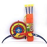 Dfghbn Arco y Flecha niños Set 54cm Grande Suave lechón de Tiro con Arco y la Flecha Conjunto de Juguete al Aire Libre Competitiva Flechas y Blanco Juguete Deporte (Color : Orange, Size : 64x51x84cm)