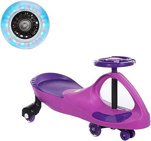 Kinder Twist Auto 1-3-6 Jahre Alte M er Und Frauen Baby Yo Auto mädchen Auto Flash Stumm Rad Schaukel Rutsche Xuan - worth having (Farbe   lila)