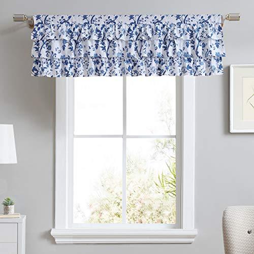 Laura Ashley Home   Valance 100% Cotton, Chic Window Treatment for Home Décor, 18 x 50, Elise