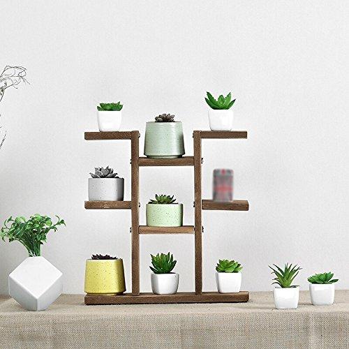 Support En Bois Simple De Fleur, Présentoir D'usine De Salon De Bureau De Bureau, Taille35.5x10.37.5cm De Couleur En Bois (Couleur : Brown)
