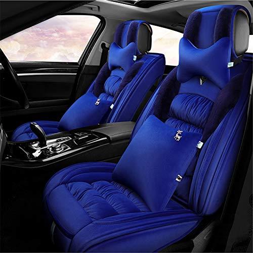ZYJFP GM Warm Auto Stoel Kussen, Winter Pluche Seat Cover, Met Hoofdsteun Kussen Airbag Gereserveerde poort, Voor Auto Onderdelen