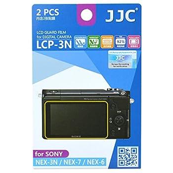 JJC LCP-3N Guard Film Digital Camera LCD Screen Protector for Sony NEX-3N NEX-7 NEX-6 ILCE-5000 α5000 ILCE-6000 α6000 Camera