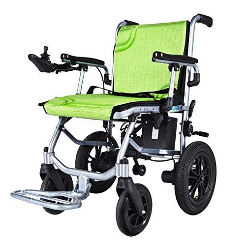 Elektrischer Rollstuhl,14kg Faltbaren Rollstuhl,Doppelcontroller Vorne und Hinten Ergonomischer Sitz und Rückenlehne, Tragbare Ältere Behinderte Hilfe Auto,Kann ins Flugzeug steigen,Sitzbreite 45 cm