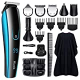Beard Trimmer for Men, Hizek 6 in 1 Hair Clipper Cordless Kit Rechargeable