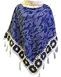 Winter Creation Unisex Cotton Poncho (Large, Multicolour)
