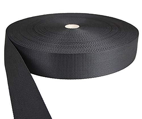 Tukan-tex Gurtband Polypropylene schwarz 50mm breit - 50 Meter Länge / 5 cm Breite
