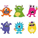 24 Pieces Monster Party Cutouts Little Colorful Monster Cutouts Party Decorations for Girls Boys Birthday Baby Shower, Monster Party Favors Birthday Supplies