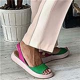 QLIGHA Sandalias correctoras de Dedo del pie Sandalias de corrección de pie de Dedo Gordo de Suela Plana para Mujer Sandalias Planas de Peso Ligero Corrector de juanete ortopédico, Verde, 42