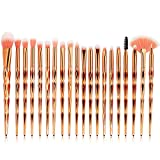 AODOOR 20 in 1 Make Up Pinsel Set, lidschattenpinse Augenbrauenpinsel Make Up Brush Set, Erröten Gesichtspuder Pinsel, Professionelle Kosmetik Schminkpinsel Set