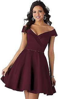 Homecoming Dresses Short Off Shoulder A Line Beaded Prom Formal Evening Dress for Women