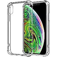 Funda iPhone X iPhone XS Carcasa HUSHCO Ligera Silicona Suave TPU Gel Bumper Case Cover de Protección Antideslizante [Anti-Rasguño] [Anti-Golpes] Caso - Transparente