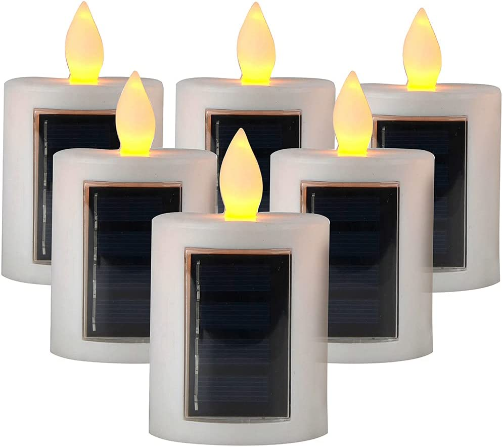 yhengg LED Plastic outlet Material Solar Decora Outdoor Candle Lanterns Limited time for free shipping