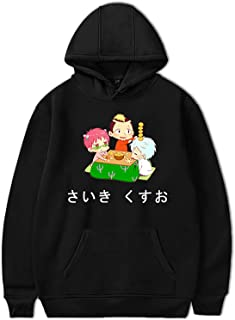 Anime Saiki Kusuo no Ψ-Nan Hoodie Unisex Streetwear Saiki Kusuo Sudadera de Manga Larga Shun Kaidou Sudadera con Capucha
