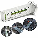 CarAngels 汎用型 磁気 キャンバーゲージ マグネット式 アライメント調整 キャンバー角度測定 ツール (シルバー)