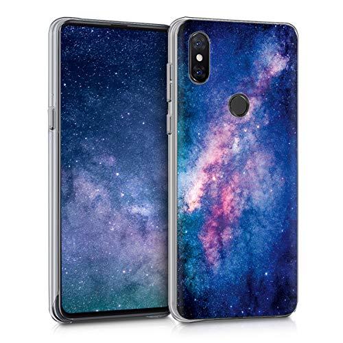 kwmobile Funda Compatible con Xiaomi Mi Mix 3 - Carcasa Trasera para móvil - Cover Duro Estrellas en la Galaxia