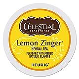 Celestial Seasonings Lemon Zinger Herbal Tea, Single-Serve Keurig K-Cup Pods, 24 Count