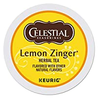 Celestial Seasonings Lemon Zinger Herbal Tea, K-Cup Portion Pack for Keurig K-Cup Brewers, 24-Count Thank you for using our service by GIP Super Market