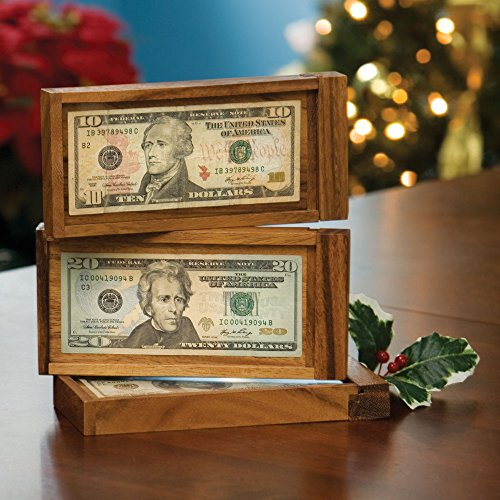 Bits and Pieces - Magic Money Wooden Currency Gift - Brainteaser Puzzle - Fun Way to Give a Gift of Money (Best Grow Box For The Money)